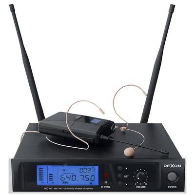 Mikrofon bezprzewodowy nagłowny + klapowy MBD 940