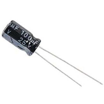 100 uF / 25 V - kondensator elektrolityczny - WYPRZEDAŻ